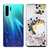 BENTOBEN Huawei P30 Pro Hülle Handyhülle Glitzer Transparent, Huawei P30 Pro Hülle Slim dünn Anti Gelb Silikon Cover Hülle für Huawei P30 Pro/Huawei P30 Pro New Edition Bling Sterne
