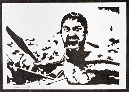300 Poster König Leonidas Plakat Handmade Graffiti Street Art - Artwork