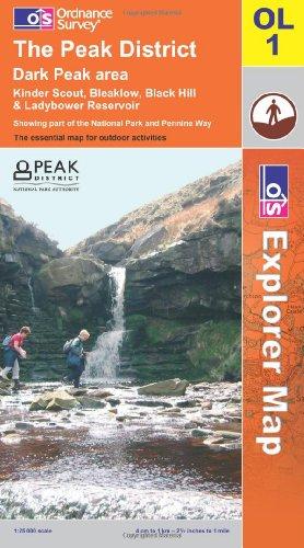 OS Explorer map OL1 : The Peak District