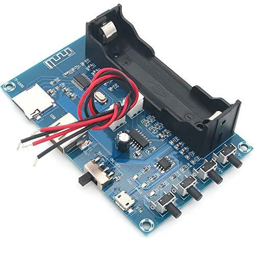 DollaTek XH-A150 batería de Litio Placa de amplificadores de Potencia Digital Bluetooth 5W + 5W Soporte Android DIY pequeño Altavoz Recargable