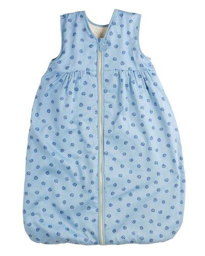 Lana Natural Wear Unisex - Baby Schlafsack Plüsch Geo, Gr. 120, Blau (Geo Lichtblau 912)