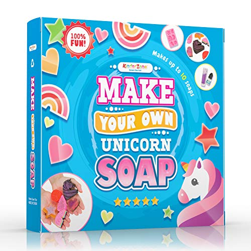 DIY Soap Making Kit - Make Your Own Unicorn Soap with Unicorn tears, Great DIY Craft Project, Gift & STEM Science Experiment for Kids Ages 6 and Up
