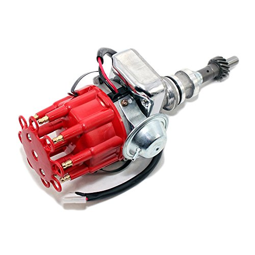 Assault Racing Products 1135111 for Ford Windsor 351W Electronic Ready To Run Drop-In Distributor Red Small Cap SBF