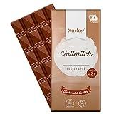 10 Tafeln Xukkolade, Vollmilch-Schokolade mit Süßungsmittel Xylit, von XUCKER, Sparpack 10x 100g