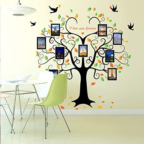 GWFVA Adicionar Adicionado zwart grote boom fotolijst Sticker mode gemakkelijk canap kan muur achtergrond TV muur Sticker slaapkamer muur Sticker woonkamer
