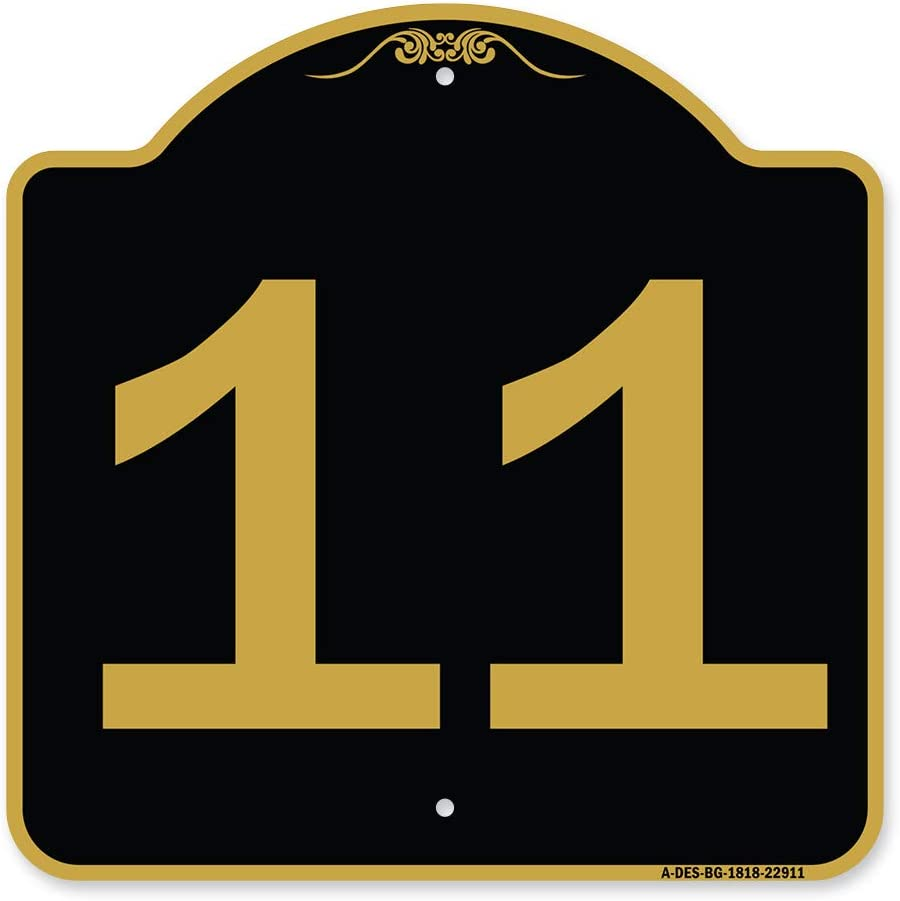 SignMission Designer Series Sign - Dealing full price reduction with Black '11 Max 43% OFF Number