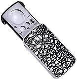 JXXDDQ Portable 30 Fois agrandisseur 60 Fois 90 Fois Lampe UV Artisanat Bijoux Identification Haute Grossissement Loupe