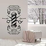 Icono logo etiqueta de la pared hombre corte de pelo peinado puertas y ventanas...