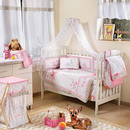 %16 OFF! Blancho Pink Dearest Bambi Crib Bedding Set (3PC Bedding Set + 1 x Hamper)