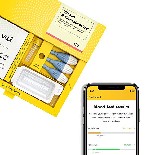 Vitl Vitamin and Cholesterol Blood Test Kit, 0.15 kg