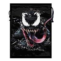 巾着袋 収納袋 収納ポーチ 引きひも袋 シューズバッグ お着替え袋 きんちゃく袋 小物入れ トラベルポーチ Venom 撥水加工 多機能 アウトドア 折りたたみ 軽量 可愛い 丈夫 レッスンバッグ