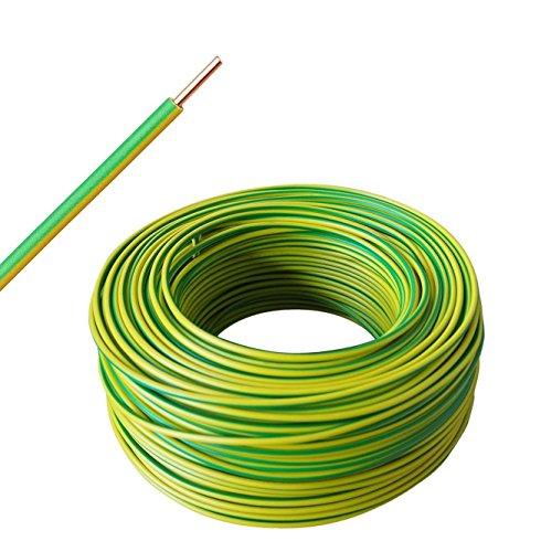 H07V-U 1x4 mm² - Aderleitung starr eindrähtig - grün/gelb - ab 10m bis 50m wählbar