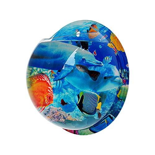 Wankd 29.5CM Idylische Blase Schüssel Pflanze Aquarium aus Acryl mit Wandhalterung Blumentopf GartenTerrasse Balkon Wand-Dekoration (29.5CM, Delphin)