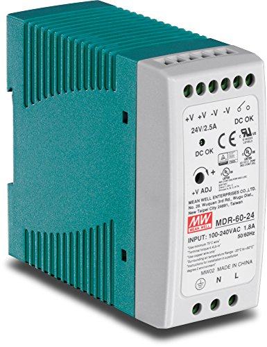 TRENDnet TI-M6024 60 W industrielles DIN-Rail-Netzteil mit Einfachausgang, Universeller AC-Eingang, Extremer -20 bis 70 °C (-4 bis 158 °F) Betriebstemperaturbereich