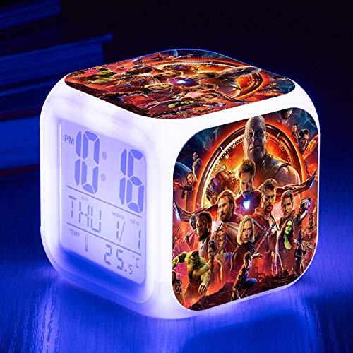 HHKX100822 Student Kinder Wecker Led 7 Farbe Digitale Kleine Wecker Kreatives Geschenk Elektronische Uhr E