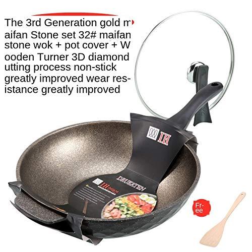 XHDY medische steen roerbak, begeleid door anti-aanbaklaag, geen rookvrij, platte gietdoek, gezondheidspan, geschenkartikel, gasfornuis 32 cm.