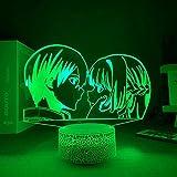 Lámpara de ilusión 3D Mood Led Luz de noche Anime Danganronpa Manga Harmony Killer Game Kokichi Oma Decoración para el dormitorio de los niños-Crack Base_No Remote