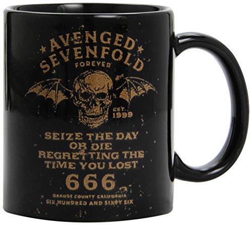 Avenged Sevenfold - Seize The Day Or Die Regretting The Time You Lost 666 Logo - Tasse schwarz im Geschenkkarton