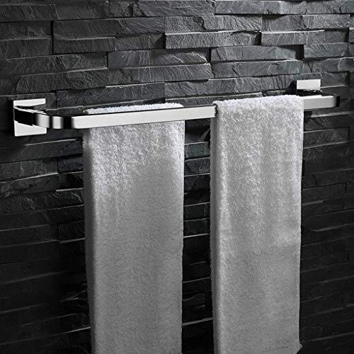 Toallero de baño, Estante de Almacenamiento de Espejo de Acero Inoxidable 304 montado en la Pared, Colgante de Hardware de suspensión de Doble Poste para Cocina, balcón de 60 cm