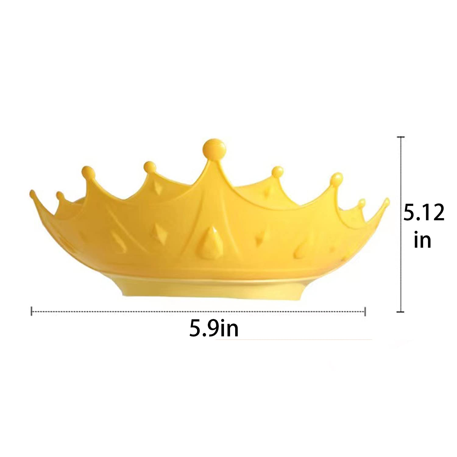 Baby Shower Cap Waterproof Shampoo hat for Children Toddler Girls Boys Protect Ears Eyes.Adjustable Silicone Bathing Crown.