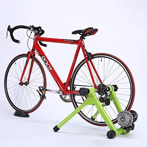 LAZNG Stand de Bicyclette de vélos, Bicyclette magnétique Stand Stateary for Exercices d'intérieur, réduction du Bruit de Bruit Calme et Bloc de Roue Avant, Vert