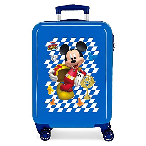 Disney Good Mood Cabin Suitcase Blue 37 x 55 x 20 cm Rigid ABS Side Combination Closure 32L 2 kg 4 Wheels Double Hand Luggage