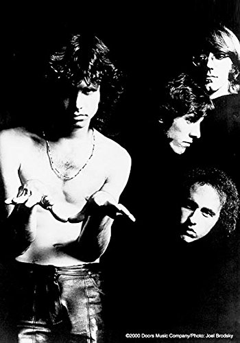 empireposter The Doors - Band B/W - Posterflaggen Fahne - Größe 75x110 cm