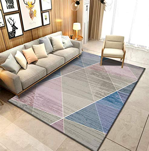 HXJHWB Tapis Salon Coloris Et Tailles Motif - Canapé Table Basse Tapis à Motif géométrique Simple Tapis Contemporain d'accessoires pour la Maison de Haute qualité-40 cm x 60 cm