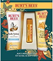 Burt's Bees Holiday Honey Pot Gift Set, 3 Products ($32 value) - Body lotion, hand Cream and Lip Balm, 1 Count