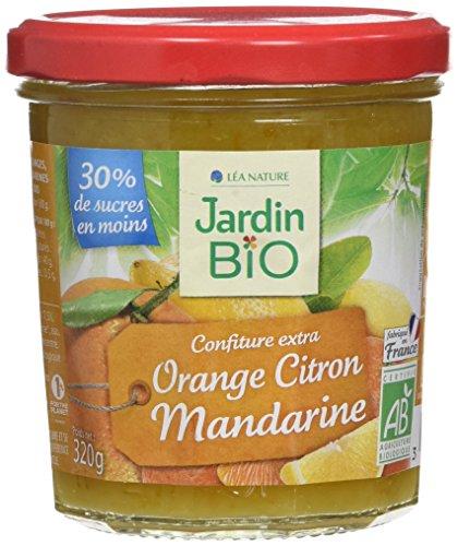 Jardin Bio Confiture Extra Orange Citron Mandarine 320 g - Lot de 3