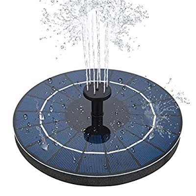 olyee Solar Fountain Pump, 3.5W Solar Powered with 1500mAH Built-in Battery, Floating Fountain Pump with 6 Water Styles, Solar Fountain for Bird Bath, Pond, Fish Tank, Pond Garden