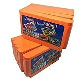 Jhana Cartucho de juego de 10 piezas 360 en 1 de 60 pines para consola de juegos de 8 bits con doble Dragon1 2 3 4 / Adventure Island1 2 3 4 / Snow Bros, etc.