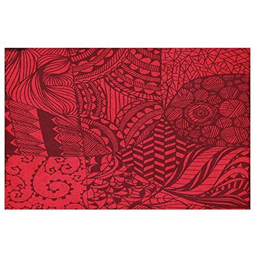 Alfombrilla para Puerta Alfombrilla para Puerta Delantera Interior y Exterior,Lotus Creativo,Alfombra para Puerta Delantera Alfombrillas de Bienvenida de PVC,23.6X15.7 Pulgadas