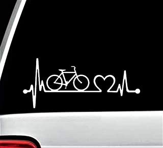 Bicycle Bike Heartbeat Lifeline Decal Sticker for Car Window K1077