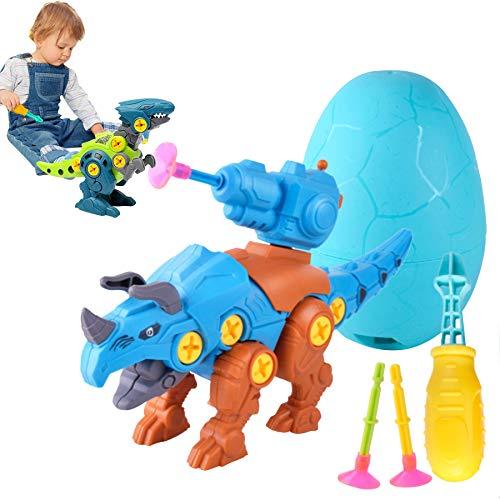 Juego de Montaje de Dinosaurio de Juguete, Juego de Juguetes para Edificios, Juguetes de construcción, construcción de Juguete, Juguetes de Dinosaurio, Juguetes de transformación (Triceratops)