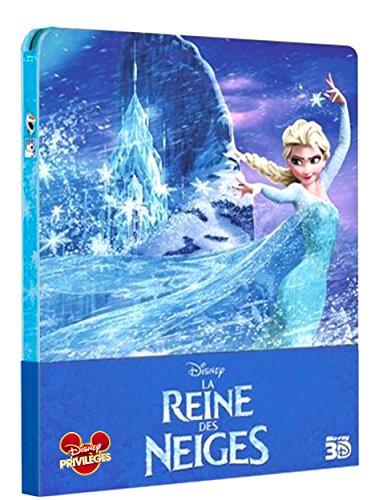 Die Eiskönigin 3D Steelbook - Frozen 3D Steelbook - La Reine Des Neiges 3D Steelbook - Blu-Ray 3D + Blu-Ray OOP in Englisch und Französisch