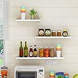 aimu White Floating Wall Mounted Shelves,Set of 3 Display Ledge Shelves,Wood Floating Shelf for Home Decor.