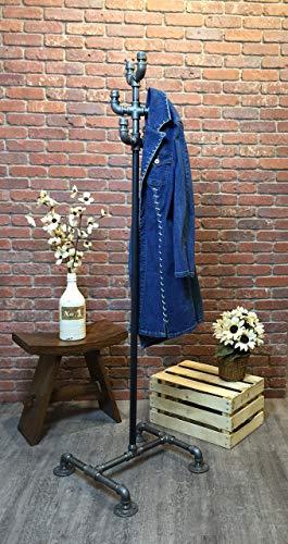 Industrial Pipe Coat Rack by William Robert's Vintage
