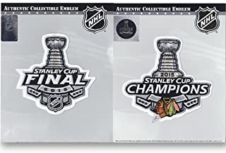 2015 NHL Stanley Cup Final Logo & Champions Jersey Patch Chicago Blackhawks Combo
