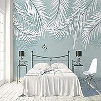 Iusasdz カスタム3D壁紙壁画北欧新鮮な熱帯植物モダンなリビングルームの寝室の背景の壁の装飾絵画Wal-280X200Cm