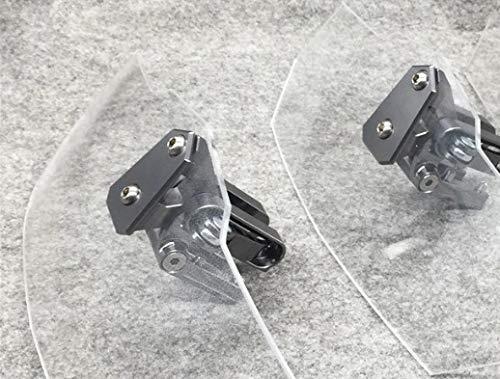 Universal gebogener und Verstellbarer Windabweiser für Kuppel (Motorrad und Roller) Stört die Sicht Nicht.
