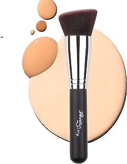 Anne's Giverny Flat Angled Foundation Brush Face Kabuki Makeup Brush for Blending Liquid Powder BB Cream Buffing Bronzer