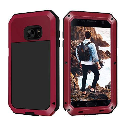 Beeasy Samsung Galaxy S7 Hülle,Outdoor Handyhülle mit integriertem Displayschut Case Schutzhülle Robust Cover Tough Doppelte Schutzschicht Fallschutz Hybrid Rüstung Schlagfest Stoßfest Kratzfest,Rot