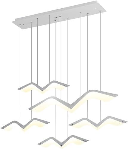 Suspension LED dimmable,Lustre LED,LED Eclairage de plafond, Lustre Salon Moderne, Suspension Luminaire LED pour Cuisine, Salle à Manger, 3000K-6000K,dimmable, L-1-tête
