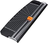 Bahob A4 Precision Paper Cutter 12 Sheet Cutting Capacity Heavy Duty Paper Cutter with Automatic Security...