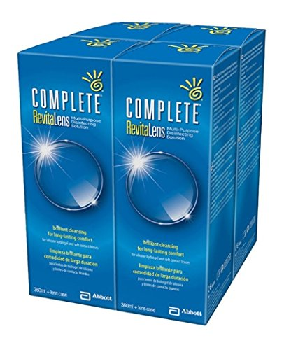 Abbott, Complete Revitalens, desinfizierende Reinigungslösung mit mehreren Verwendungszwecken, 4x 360ml (Vorrat für 6 Monate)