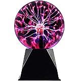 Magic Plasma Ball Touch Sound Sensitive Plasma Desk Lamp Light Nebula Sphere Lightning Globe Home Decor Magical Ball electrostatic Flashing Balls Stem Science Nightlight Room Decorations 6 Inch
