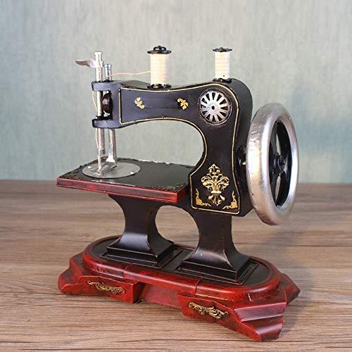Y-longhair Máquina de coser del hogar modelo retro Decoración Muebles Adornos creativo Tienda de ropa ventana de la barra Atrezzo decoración del hogar regalo 30X15X31cm elegante y hermosa manualidades