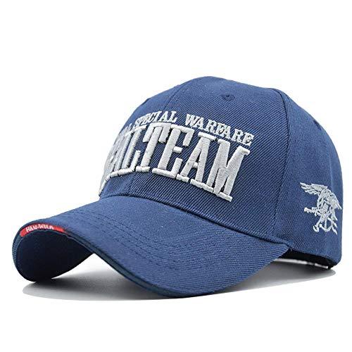 Sombrero de papá Hombres y Mujeres Sombrero de Pareja Snapback Moda Sombrero Casual Gorras de Sol al Aire Libre Azul