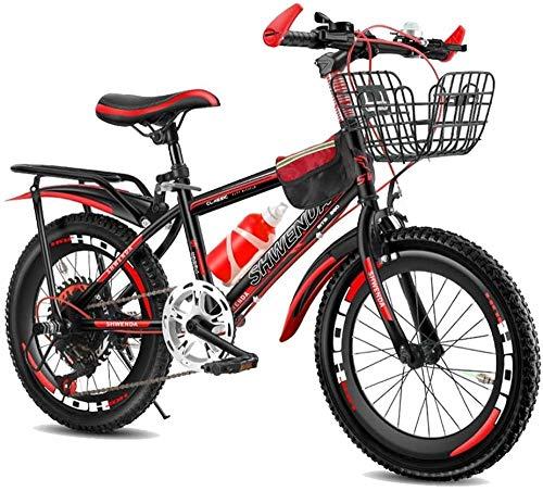 Bicicleta de montaña ajustable para niños de 7 a 14 años y niñas de 18 y 20 niños, color rojo, verde, azul, rojo y rojo